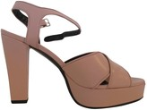 Sonia Rykiel Pink Leather Sandals