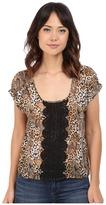 Roper 0223 Leopard Print Chiffon Top