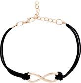 Romwe Black Criss Cross Detail Bracelet