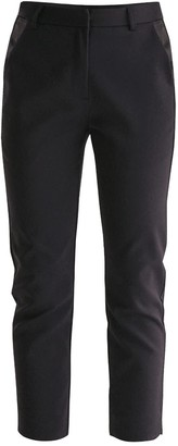 Paisie Tailored Trousers With Satin Pockets In Black