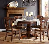 Pottery Barn Tivoli Extending Pedestal Table & Napoleon Chair 5-Piece Dining Set