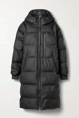 adidas by Stella McCartney Hooded Quilted Shell Coat - Black