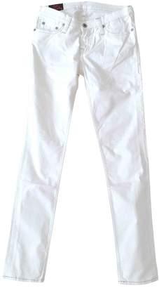 Evisu White Cotton - elasthane Jeans