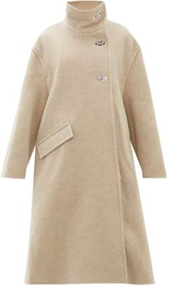 Acne Studios Osandra Wool Blend A Line Overcoat - Womens - Beige