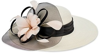 San Diego Hat Company Flower Tulle Dress Brim Hat