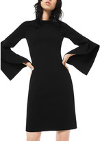 Michael Kors Crepe Draped-Sleeve Sheath Dress