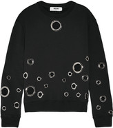 MSGM Embellished cotton sweater