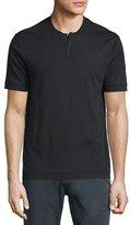 Armani Collezioni Short-Sleeve Henley T-Shirt, Black