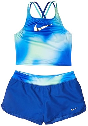 Nike Kids Spectrum Spiderback Bikini Woven Shorts Set (Little Kids/Big Kids) (Game Royal) Girl's Swimwear Sets