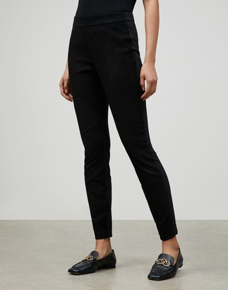 Lafayette 148 New York Velvety Stretch Suede Murray Skinny Pant