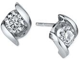 Sirena Diamond Twist Stud Earrings (1/3 ct. t.w.) in 14k White Gold
