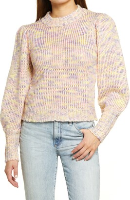 ALL IN FAVOR Pastel Marled Sweater