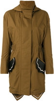 Fendi scallop pocket parka - women - Silk/Cotton/Lamb Skin/Spandex/Elastane - 40
