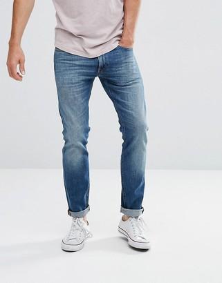 Lee luke skinny fit jean mid wash blue