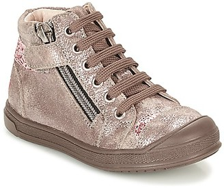 GBB DESTINY girls's Shoes (High-top Trainers) in Beige