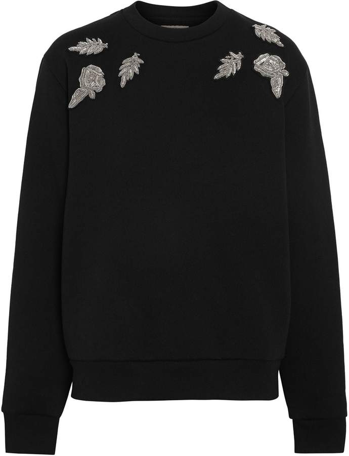 Burberry Bullion Floral Cotton Blend Sweatshirt