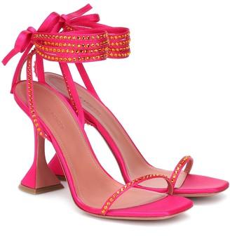 Amina Muaddi Exclusive to Mytheresa Vita embellished satin sandals