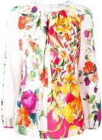 Blumarine floral print blouse - women - Viscose/Spandex/Elastane/Silk - 42
