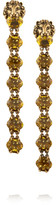 Gucci Gold-tone Crystal Clip Earrings