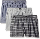 Kenneth Cole New York Men's 3-Pack Assorted Black Woven Boxers