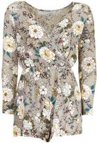 **Floral Wrapfront Playsuit by Glamorous Petites