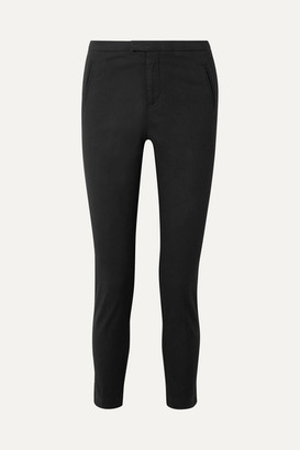 ATM Anthony Thomas Melillo Stretch-cotton Twill Tapered Pants - Black