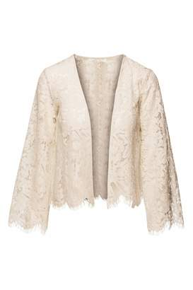 Chaser LA Open Front Lace Cardigan