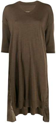UMA WANG panelled T-shirt dress