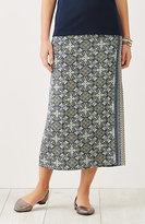 J. Jill Print Wrap-Style Knit Skirt