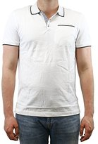 Calvin Klein Men's Multi Count Stripe Polo Shirt with Tipping