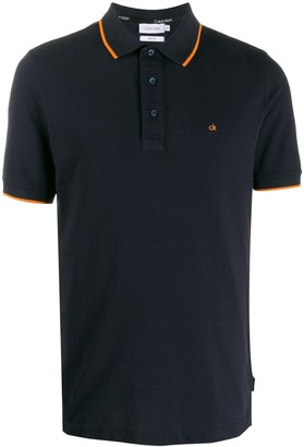 Calvin Klein short-sleeve fitted polo shirt