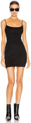 Alexander Wang Fitted Tailored Cami Dress in Black   FWRD