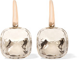 Pomellato Nudo Classic 18-karat Rose And White Gold Topaz Earrings - Rose gold