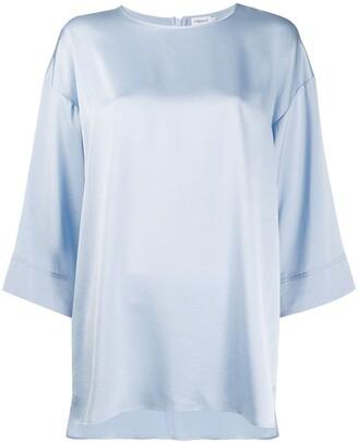 Filippa K Lydia cropped wide sleeve blouse
