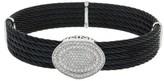 Charriol Celtic 18K White Gold Diamond Black