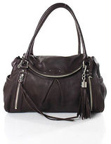Botkier Brown Leather Tassel Satchel Handbag Size Medium