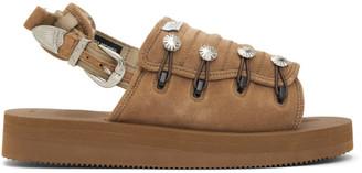 Toga Tan Suicoke Edition Suede AJ502 Sandals