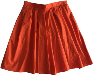 Carven Orange Cotton Skirts