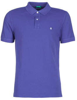 Benetton MADALO men's Polo shirt in Purple