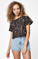 La Hearts Vibes Cold Shoulder Cropped T-Shirt