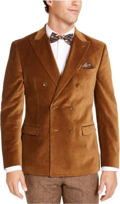 Bar III Men Slim-Fit Velvet Double-Breasted Sport Coat