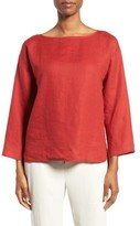Eileen Fisher Petite Women's Organic Handkerchief Linen Top