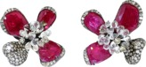 Arunashi Ruby Orchid Earrings