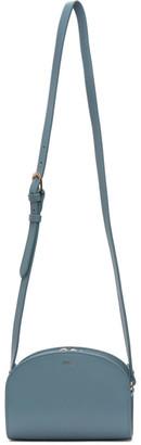 A.P.C. Blue Mini Demi-Lune Bag
