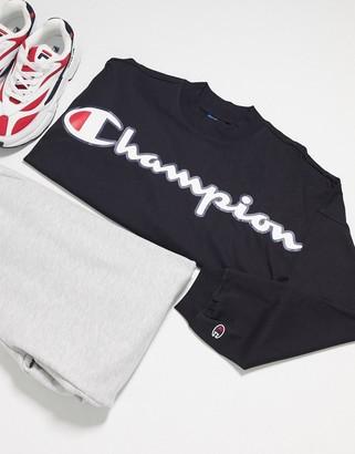 Champion cropped boxy sweatshirt in black