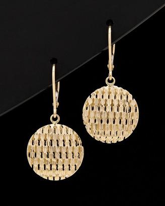 Italian Gold 14K Disc Earrings