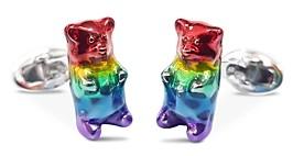 Jan Leslie Sterling Silver Gummy Bear Cufflinks