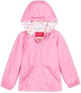 London Fog Pom-Pom-Trim Hooded Jacket, Toddler and Little Girls (2T-6X)