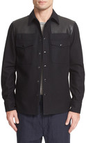 Rag & Bone Key Wool & Leather Shirt Jacket
