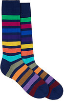 Paul Smith Men's Colorblocked Cotton-Blend Mid-Calf Socks-NAVY